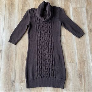 Tommy Hilfiger Cable Knit Cowl Neck Dress Womens Size Medium